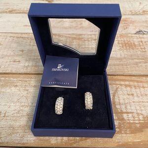 NIB Swarovski Crystal Clip Earring w Box & Cert